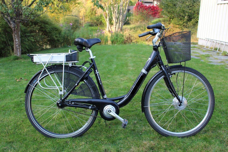 Vélo électrique dans un espace vert